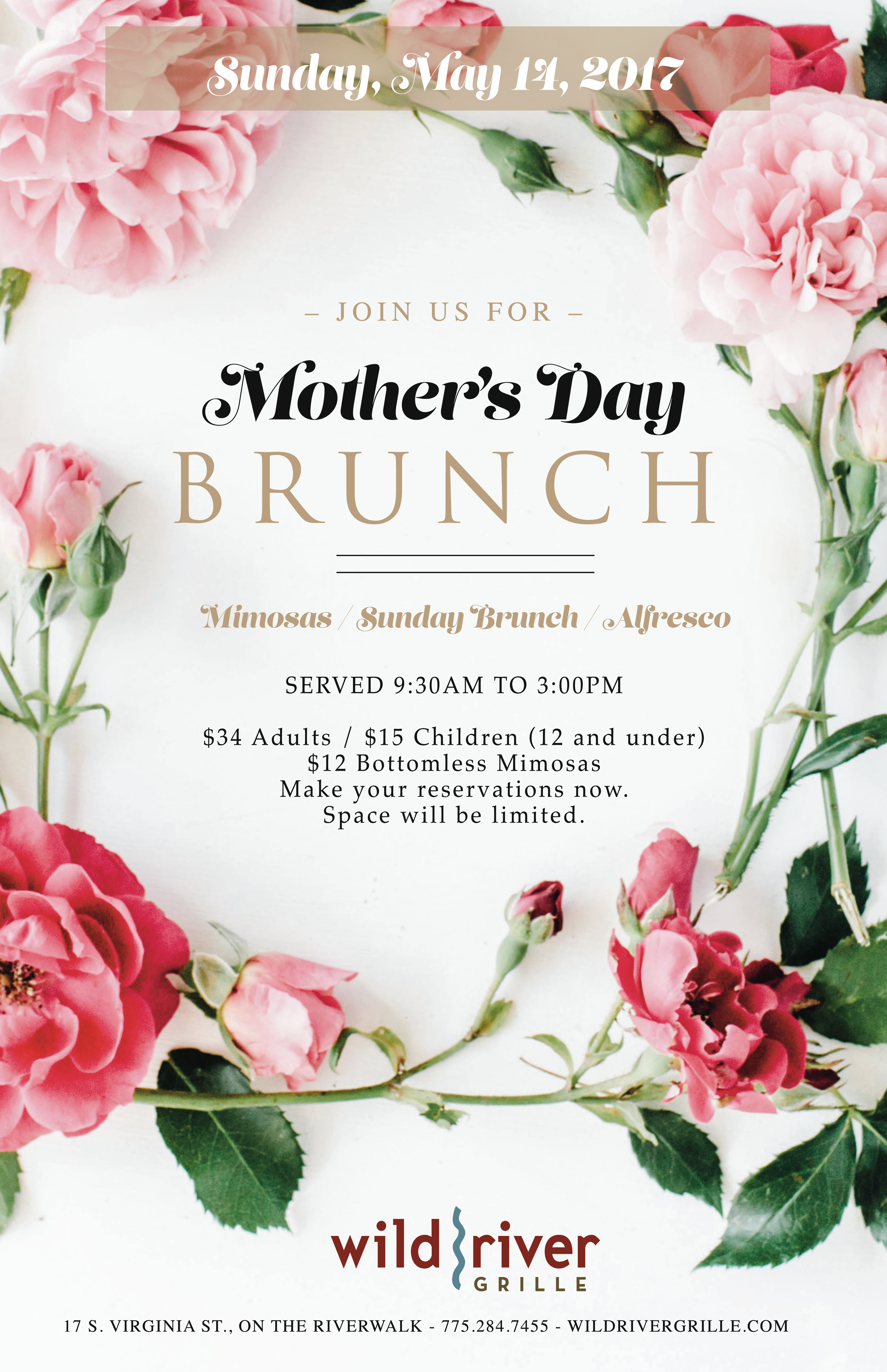 Mother's Day Brunch - Wild River Grille