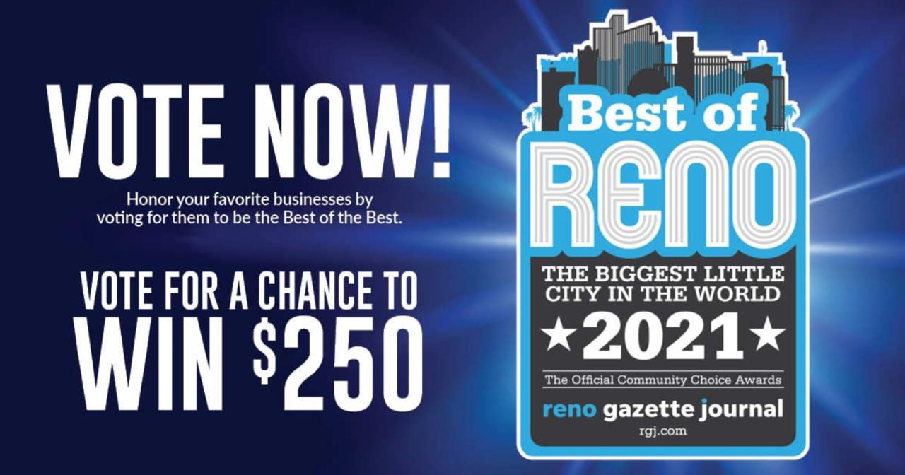 We need your vote! Best of Reno 2021