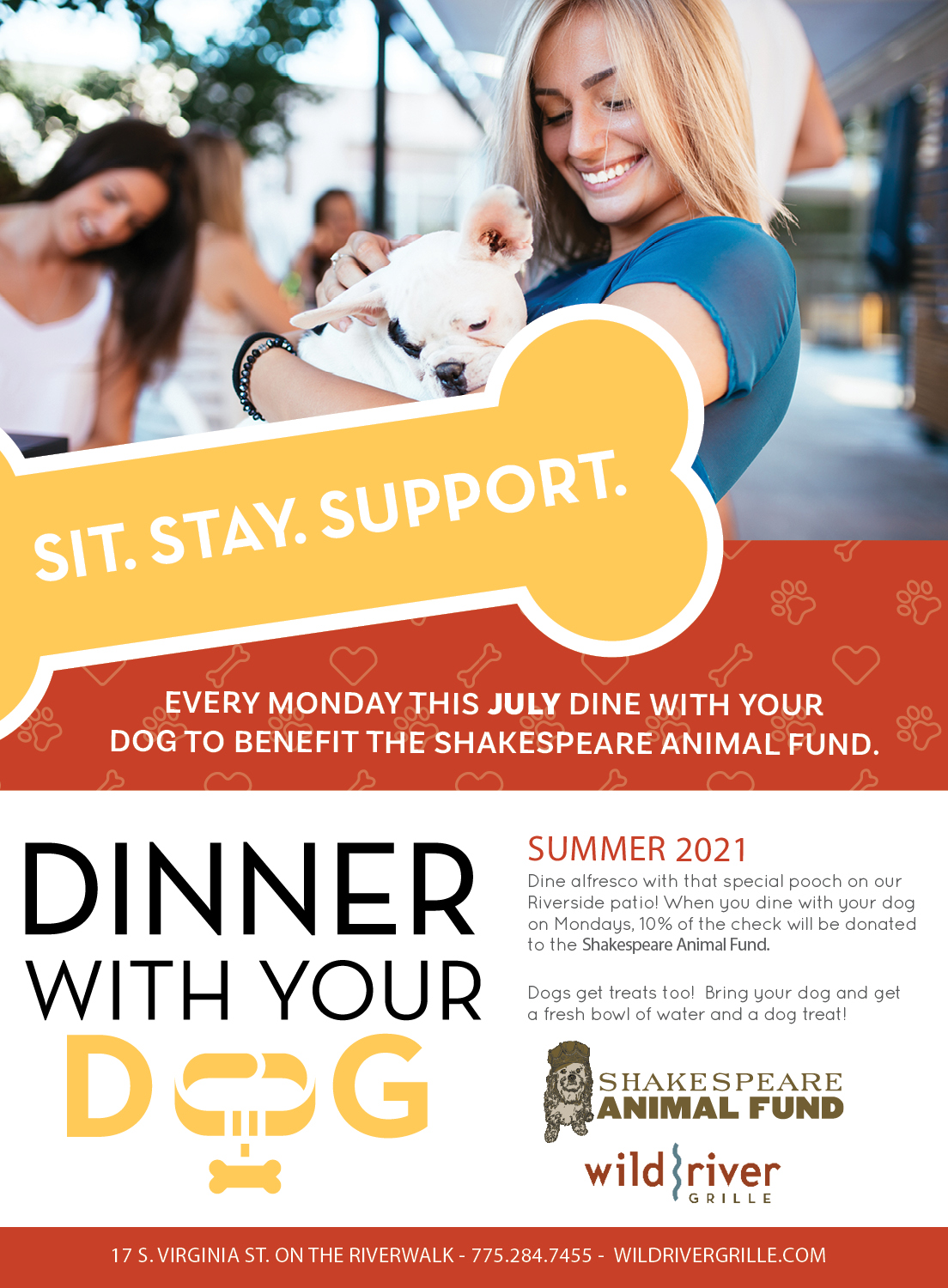 Dinner with your Dog July