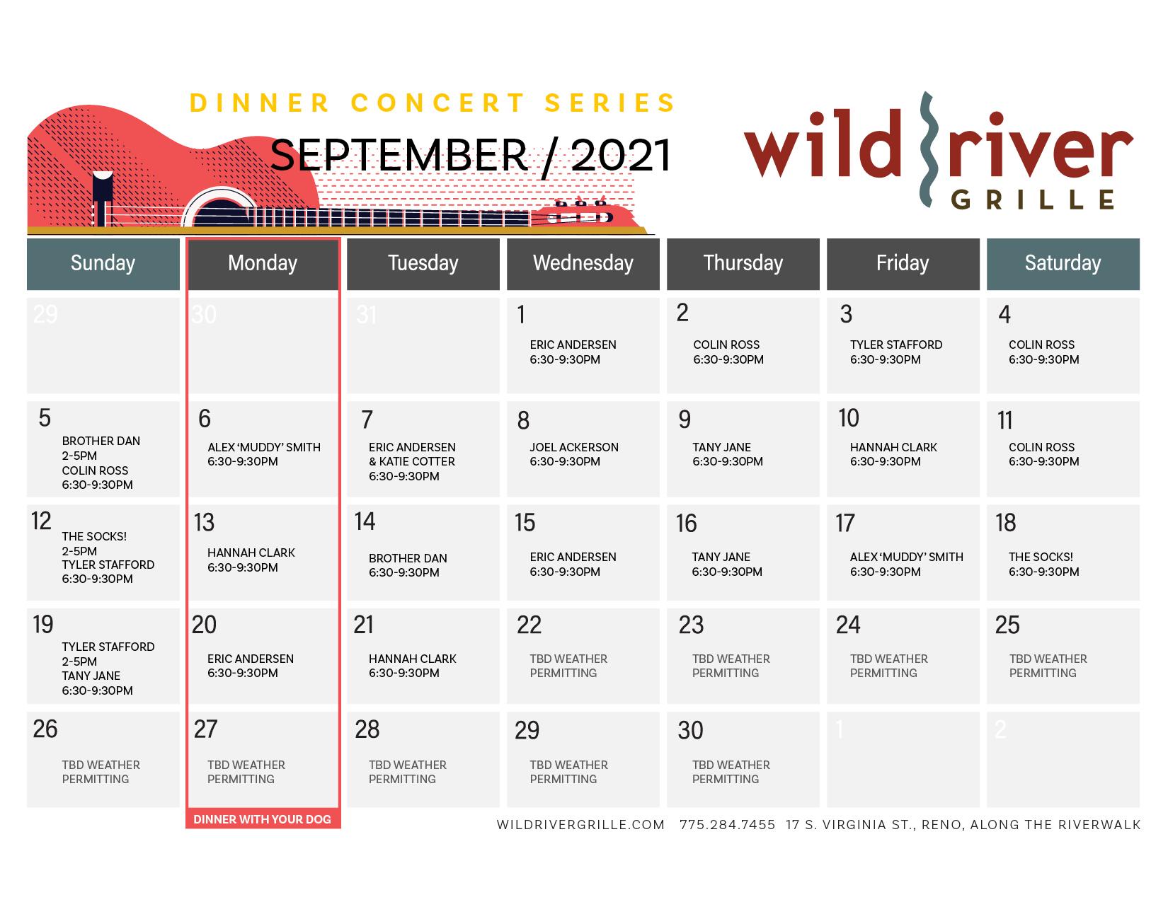 September Music Calendar